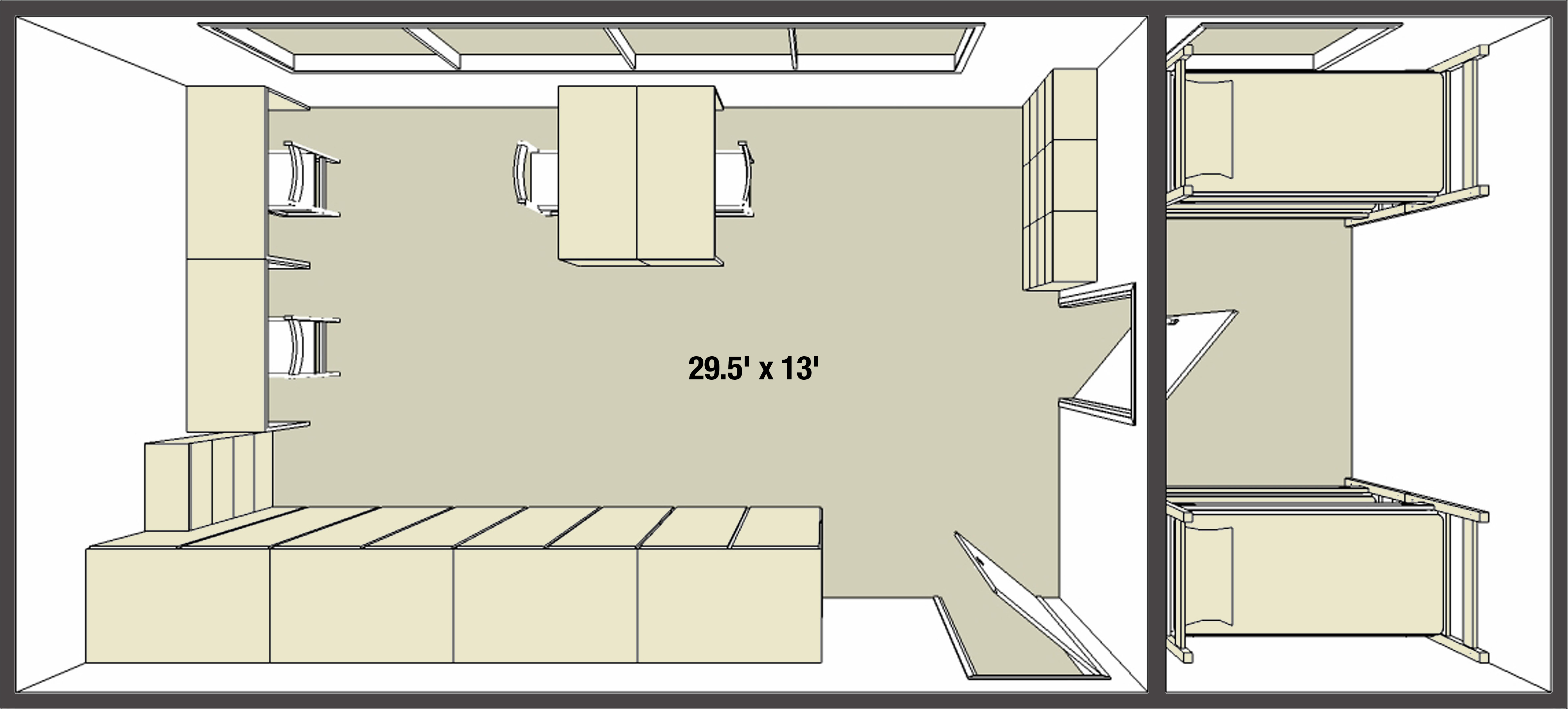 Double dorm room layouts - You Can Download Either Page For A Closer Look But Keep In Mind Especially For A Quad This Is Just A Sample Of Course Every Four Person Room