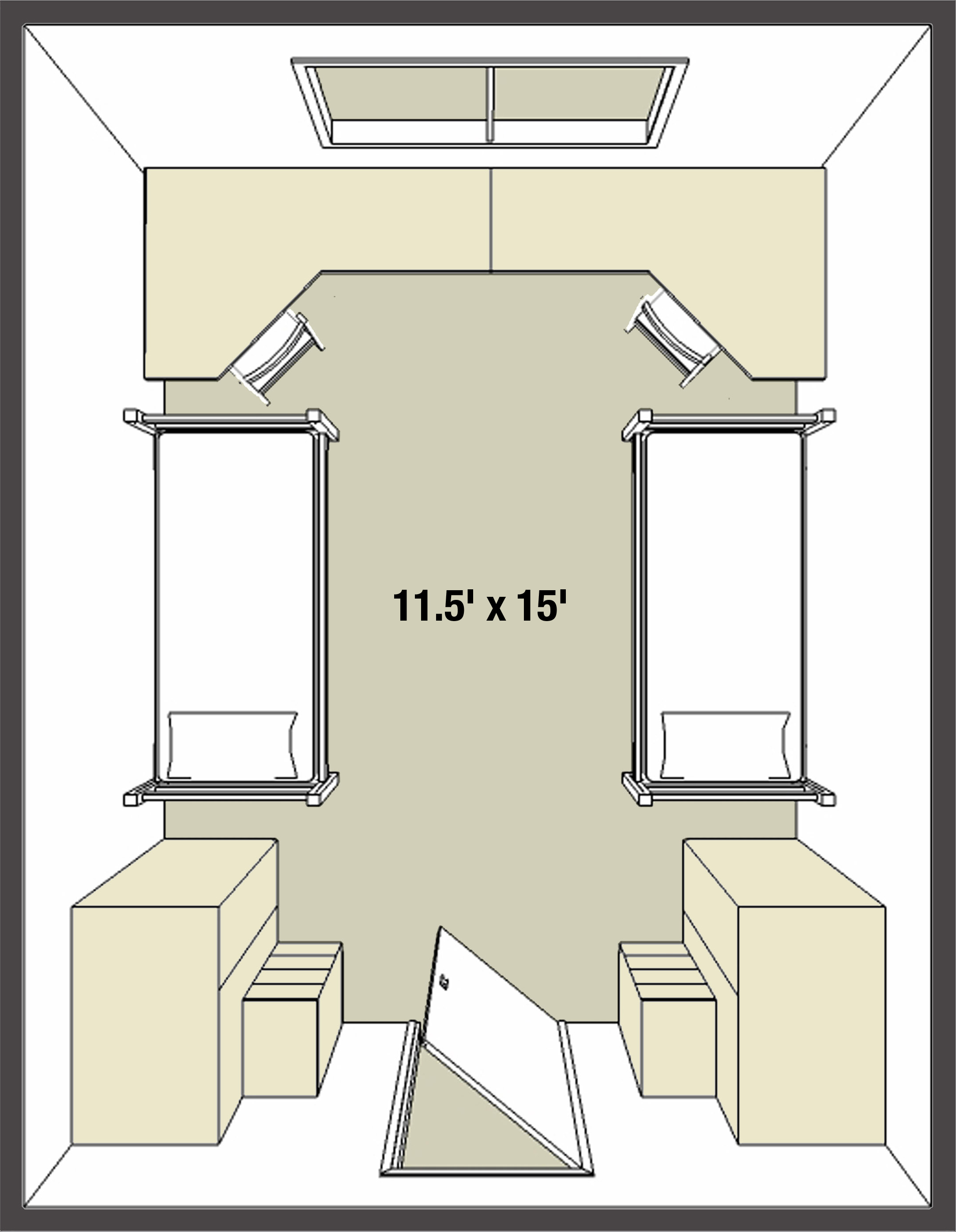 college dorm room layouts