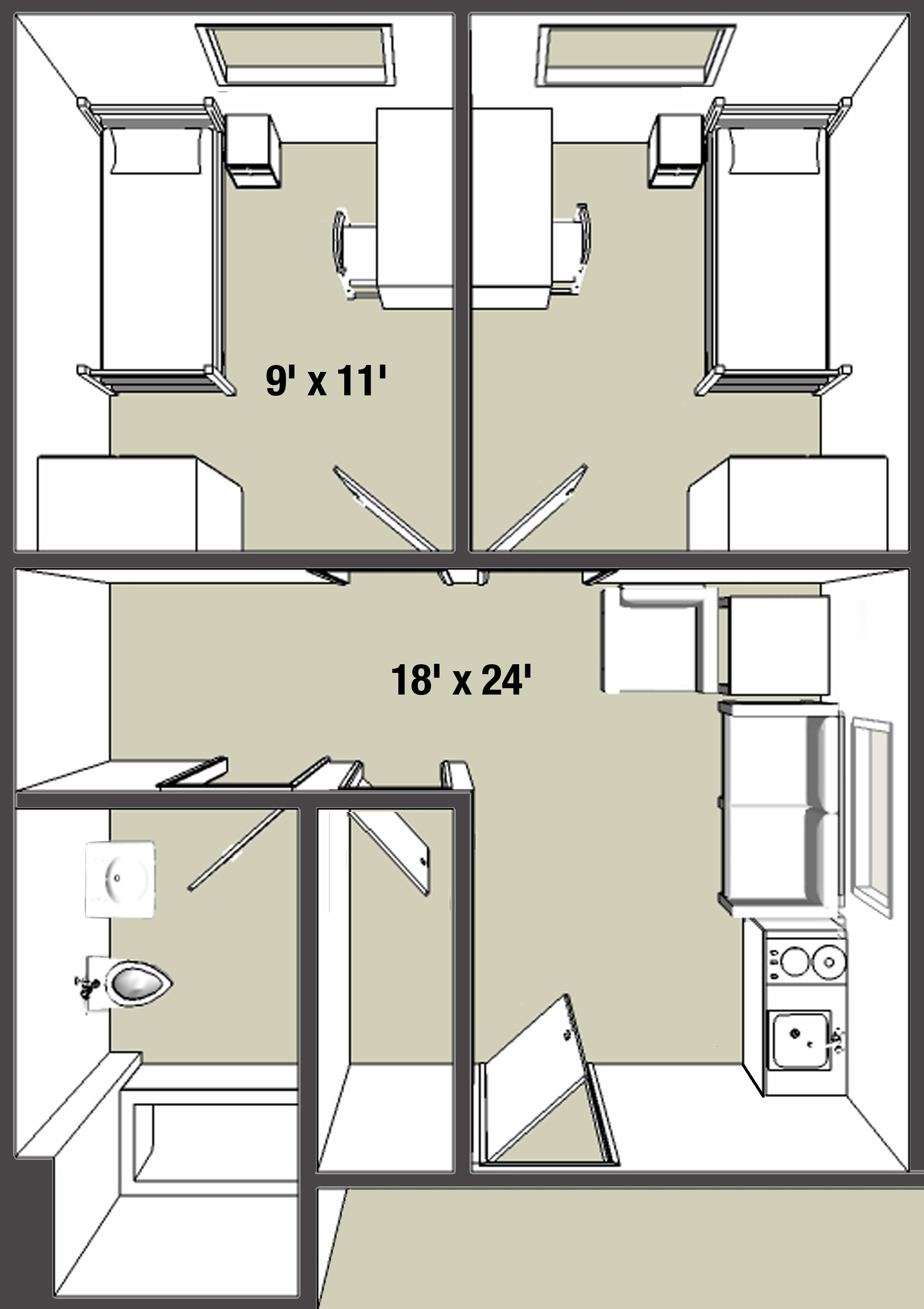 Apartment Room Layout on-campus apartments - campus living - college of arts and