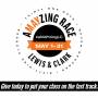 A-May-zing Race logo for the May 2019 alumni participation challenge
