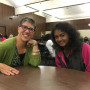 Karla and Sahana at Meetup Night.