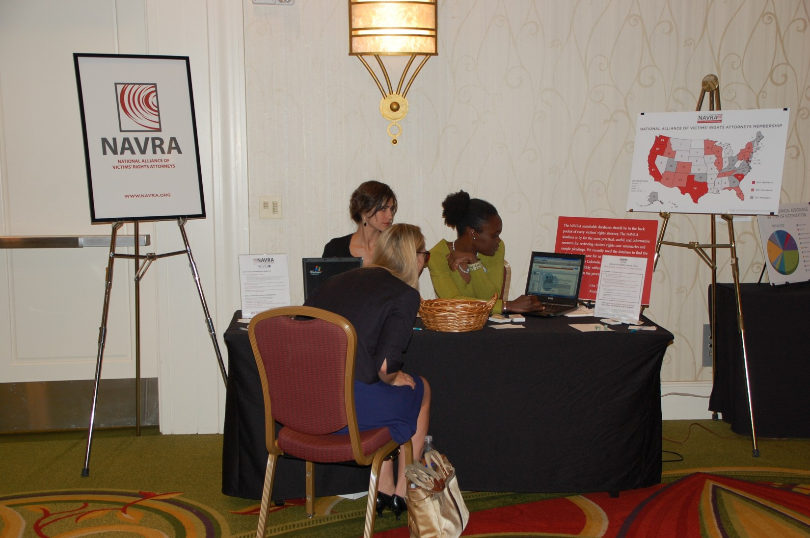 Information about the National Alliance of Victims' Rights Attorneys was provided to Conference attendees.