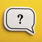 Image of a question mark in the center of a speech balloon.