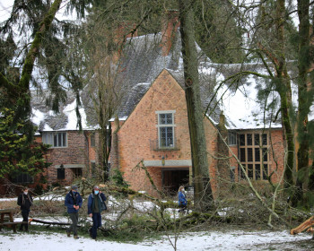 The February 2021 ice storm caused several trees to fall down near the Manor House.