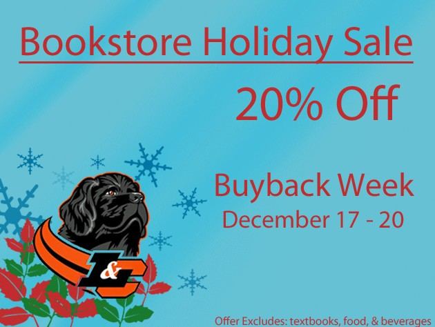 2012 Bookstore Holiday Sale 20% Off Buyback Week December 17 - 20