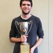 Decker O'Donnell with the Mahaffey trophy