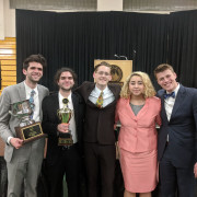 The L&C speech competitors after the NFA tournament: O'Donnell, Wisda, Quick, Hawley, Kn...
