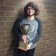 Wisda with Mahaffey trophy