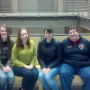 The 2013 NPTE qualifiers from Lewis & Clark. From left: Emily Halter, Brigitte Tripp, Emily T...