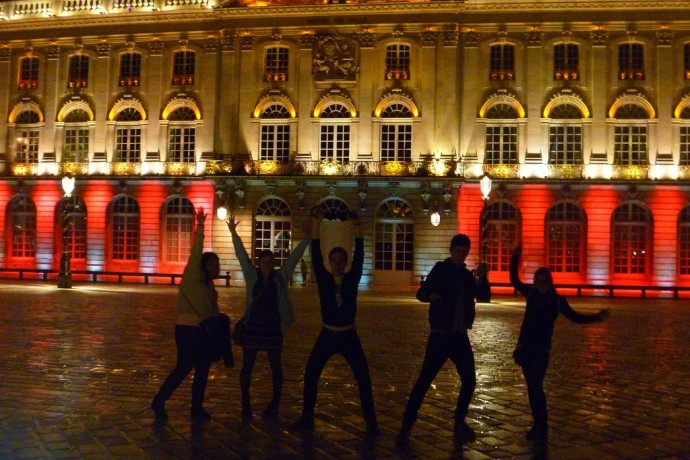 Group in front of Place Stanislas