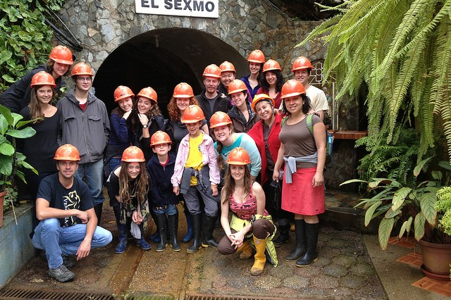 Entering El Sexmo Goldmine in Zaruma