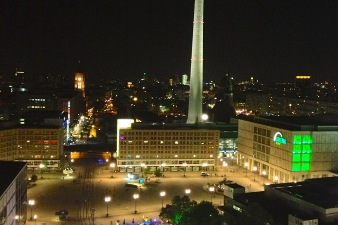 Alexanderplatz from the roof deck at Weekend (GMF)