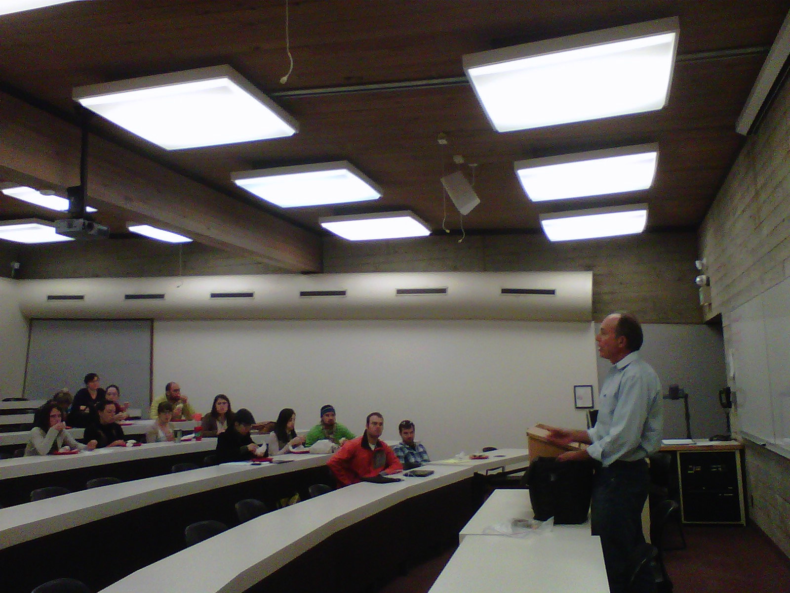 Ray Thomas, prominent local bicycle lawyer, came to teach L&C students about their rights on ...
