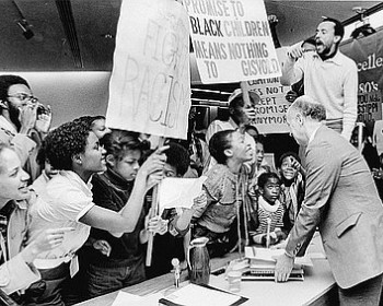 Portlanders Protest Planned Closure of Tubman Middle School, 1981