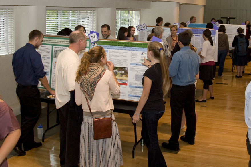 Students showing off their research
