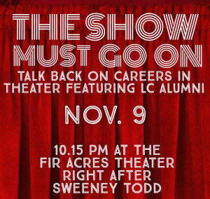 The Show Must Go On: Alumni Talkback on Careers in Theater