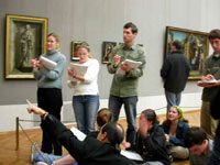 Students explore the masterpieces in the Alte Pinakothek.