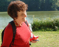 Dr. Christel Rischer touring Nymphenburg.