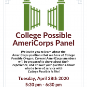 College Possible AmeriCorps Panel