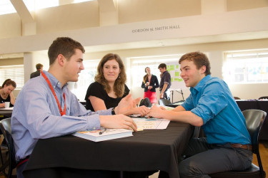 Undergraduate students develop an entrepreneurial mindset and skills during Winterim workshop.