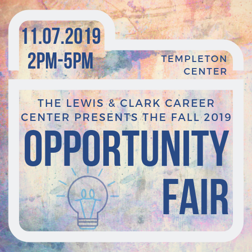 Lewis & Clark Opportunity Fair, November 7th, 2pm to 5pm