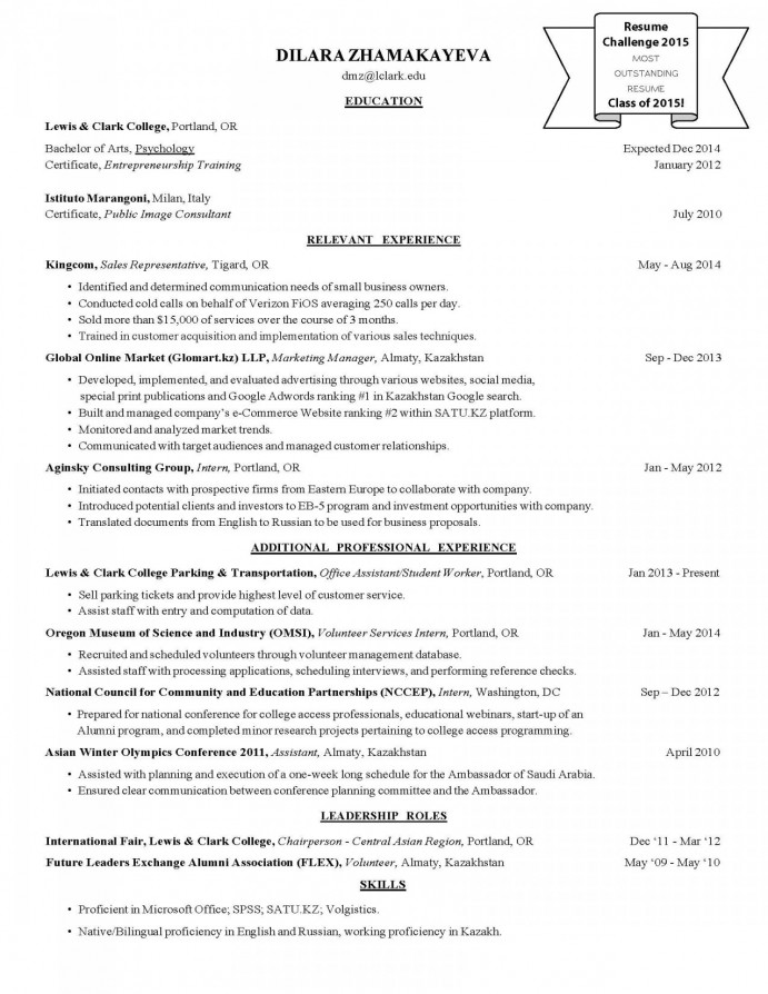 resume challenge winners - career development