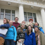 Posing in front of the Douglas County Courthouse - ENVS 350 - Spring 2014