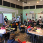 Environmental Studies Students discuss data results with students and a teacher from Cottonwood S...