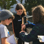 Middle school students at Cottonwood School deploy a Kestrel to measure microclimate readings dur...