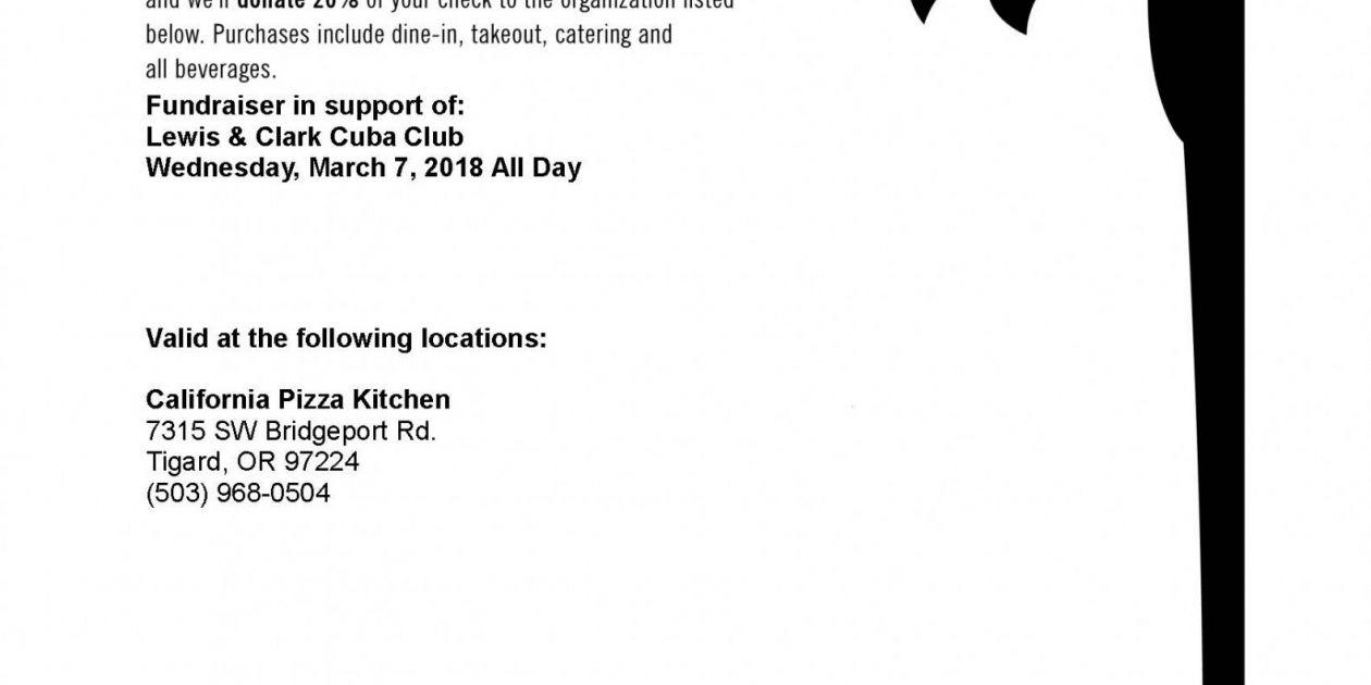Support the Cuba Club @ California Pizza Kitchen! - Student ...