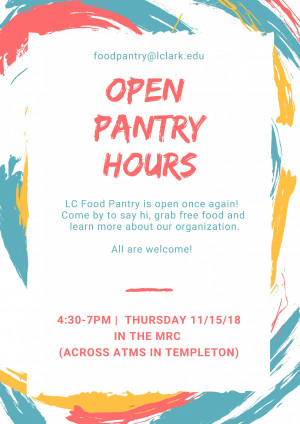 Food Pantry Open Hours