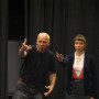 Stepan Simek demonstrates an idea in Acting class