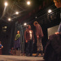 A student cast rehearses for the mainstage production