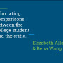 "Title slide, ""Film Rating Comparisons Between the College Student and the Critic"""