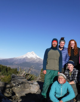 L&C students on a hike by Mt. Hood.