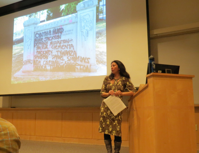 "Reiko Hillyer, assistant professor of History and Ethnic Studies faculty presents ""Trouble ..."