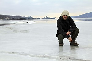 Ian in Zolotoy Rog Bay, winter 2014
