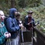 Micah Leinbach '13 talks about stream ecology on a College Outdoors trip. Photo credit: Rye Druzi...