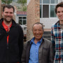 Professor Keith Dede and Neil Murray '13 (pictured here with Mr. He) conducted research in Chin...