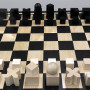 A bauhaus-inspired chess set is one of the pieces on display at the new special collections retro...