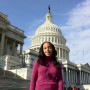 Haben Girma B.A. '10 and companion Maxine at the U.S. Capitol.