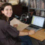 Maia Erickson '15 is creating a digital archive of documents for the Rabat Genizah Project.