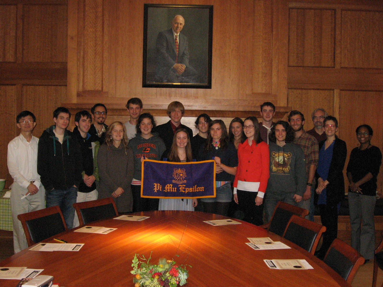 Pi Mu Epislon, Mathematics Honor Society, inducted 18 new student members in a ceremony on Octobe...