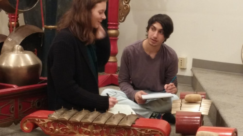 Gamelan tuning engages students